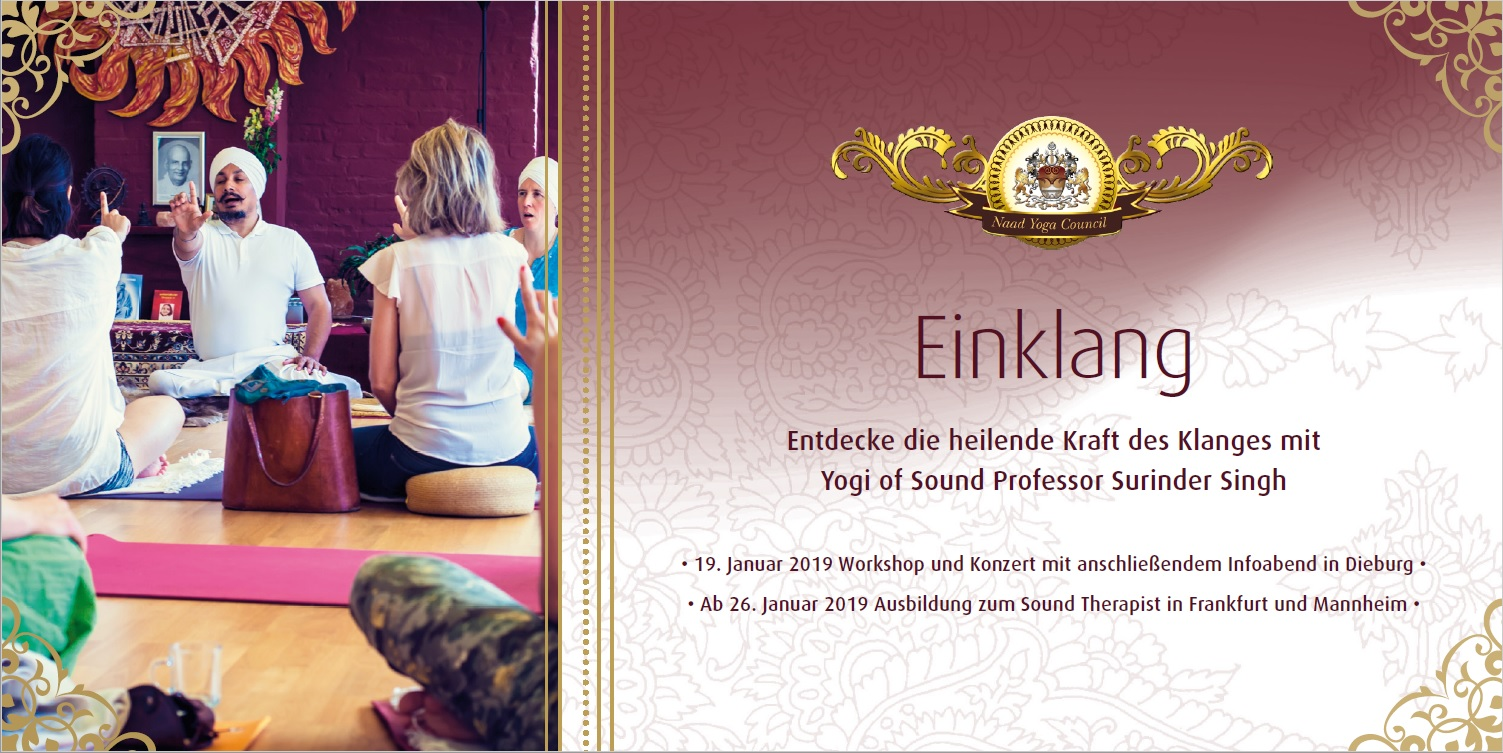 FRANKFURT - Harmony: Workshop & Concert with Yogi Prof. Surinder Singh