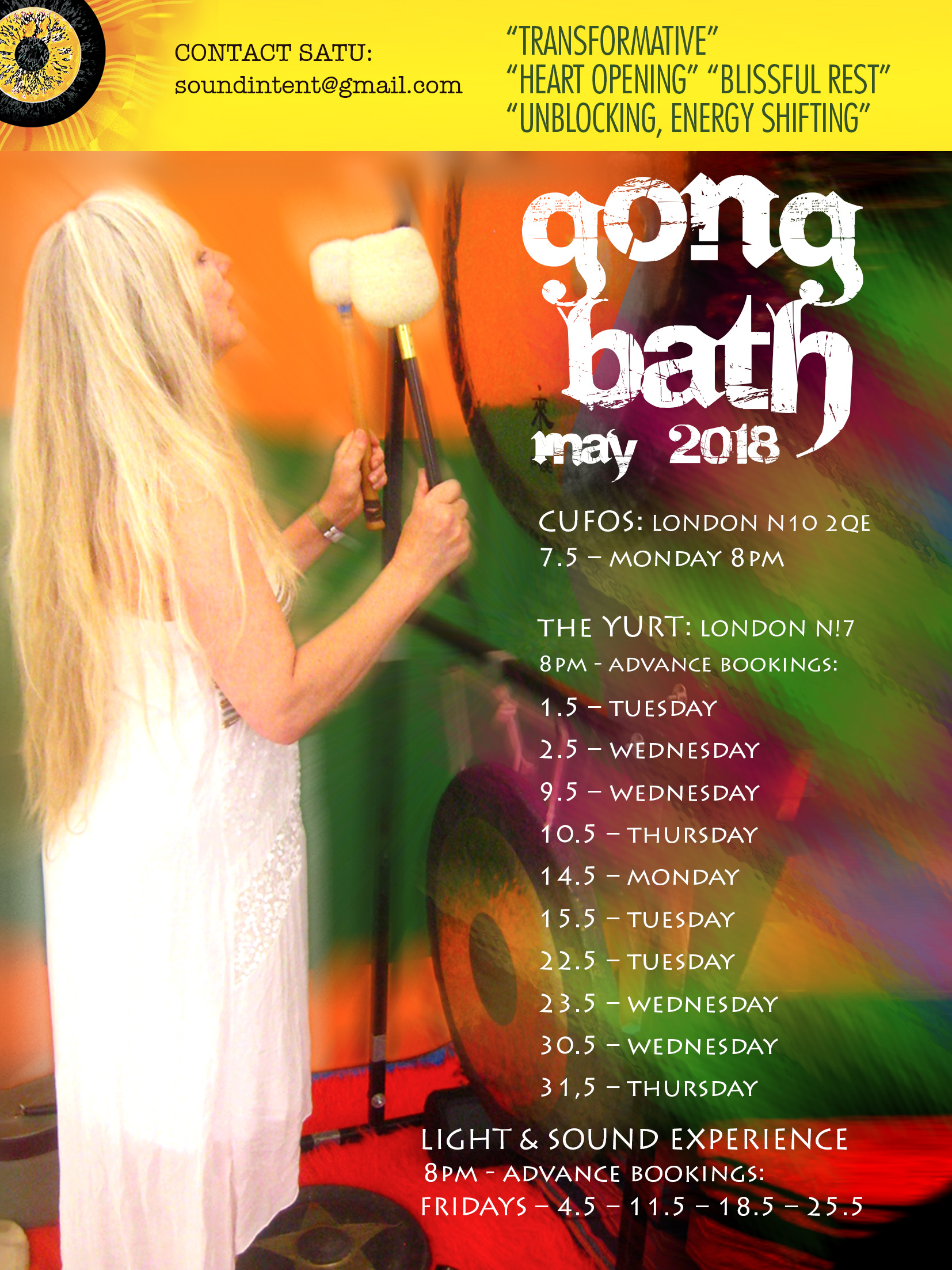 Gong Baths with Sound Intent – North London
