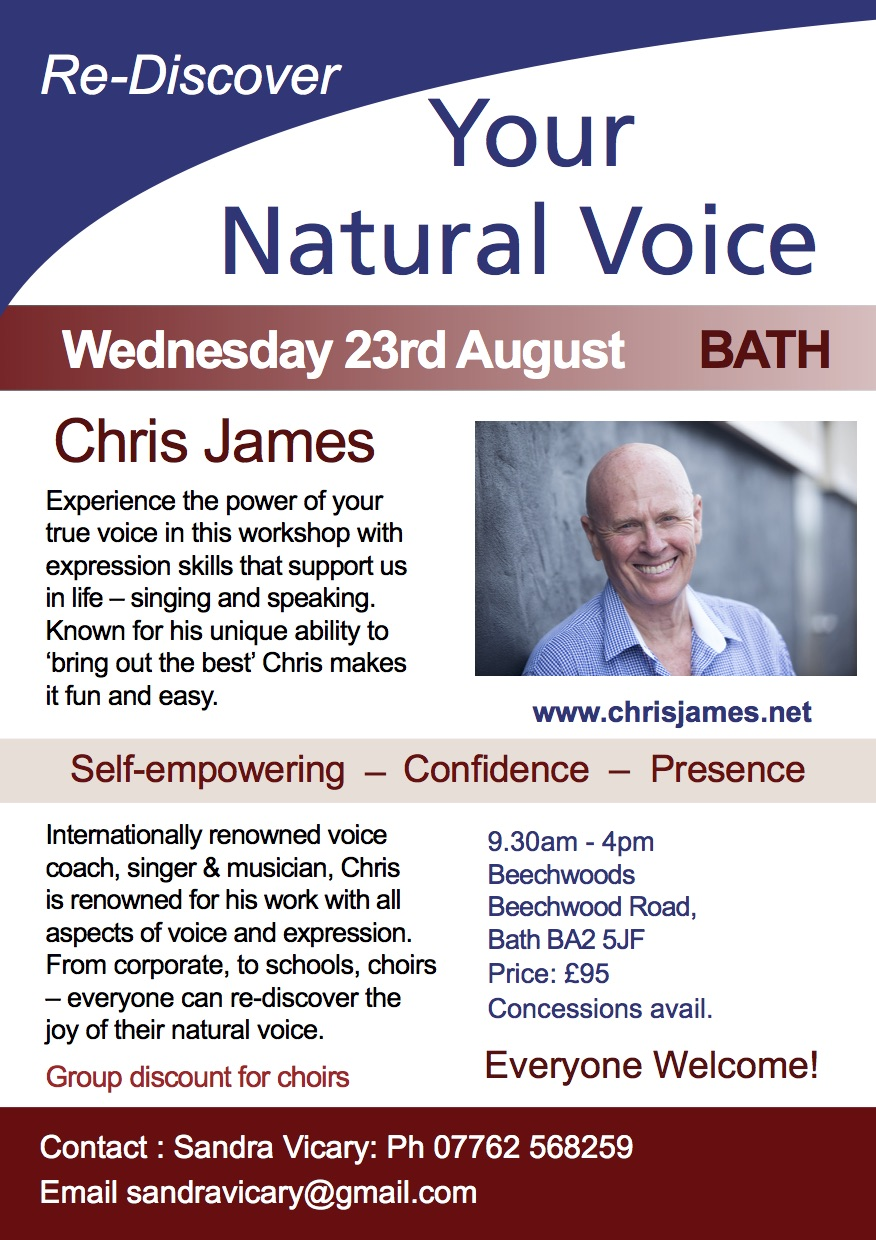 BATH - Re-Discover Your Natural Voice with Chris James