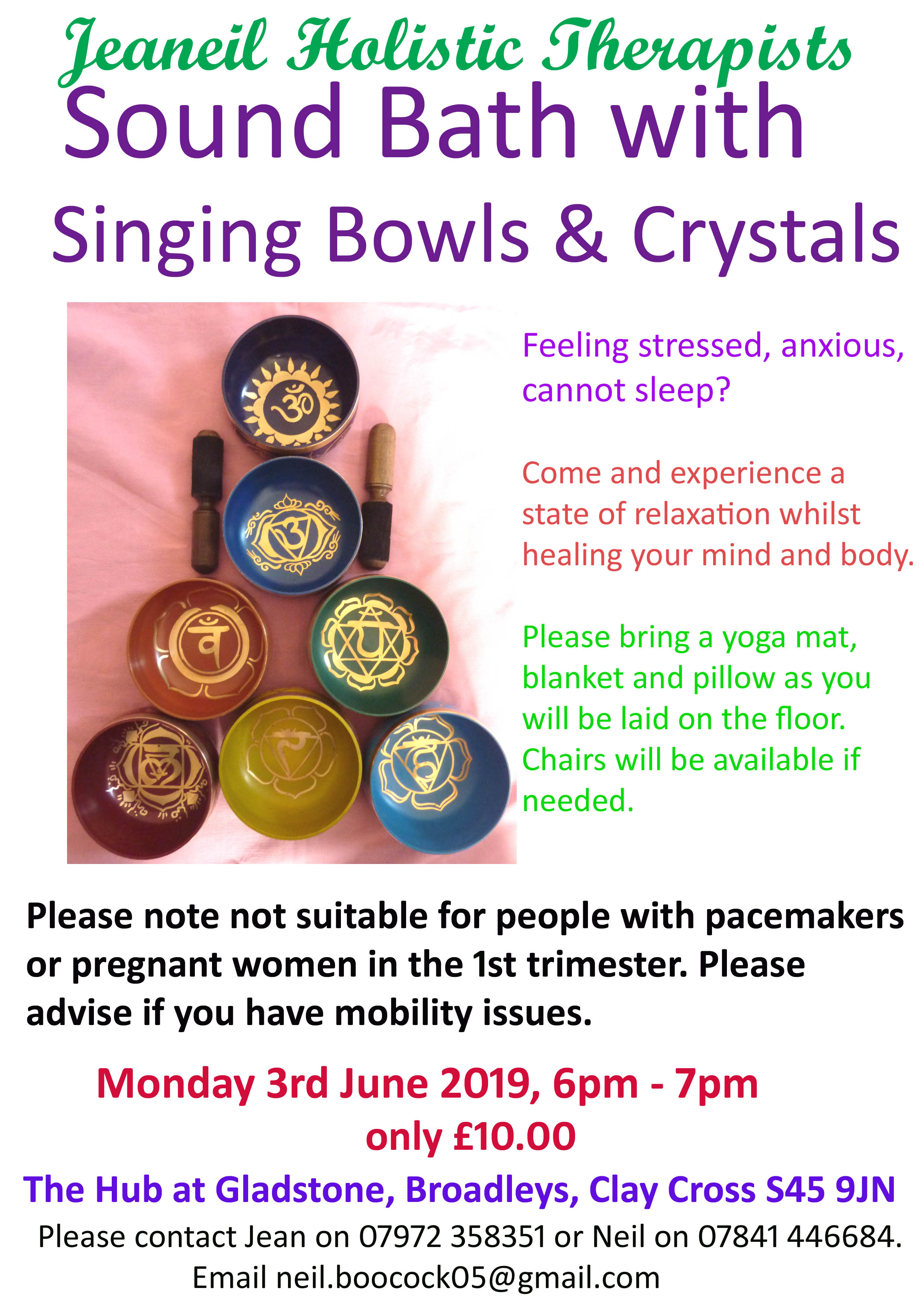DERBYSHIRE - Sound Bath with Singing Bowls and Crystals