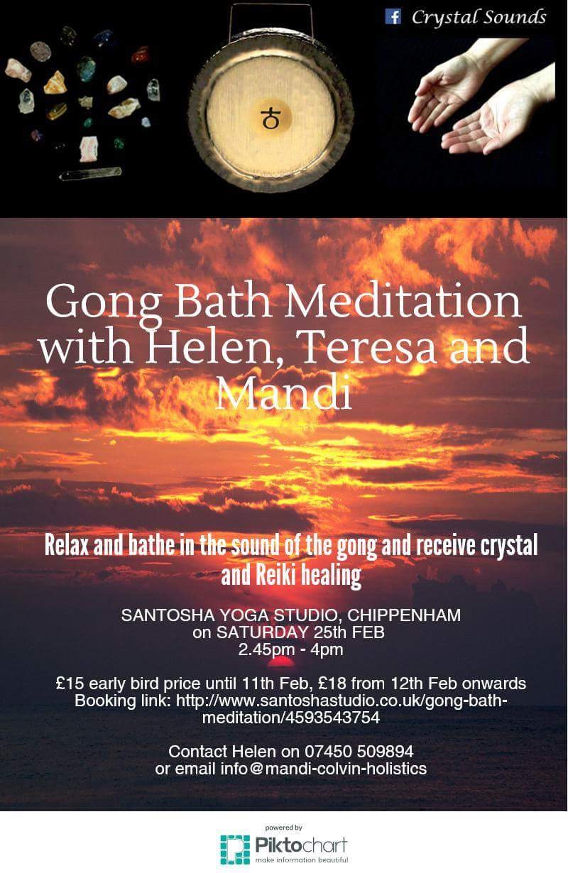 WILTSHIRE - Gong Bath with Crystal & Reiki Healing