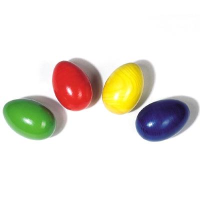 Coloured Wooden Egg Shaker