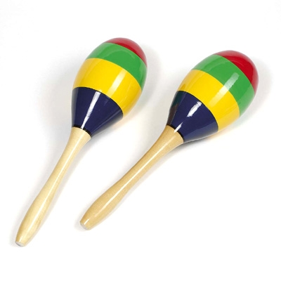 Painted Wooden Maracas