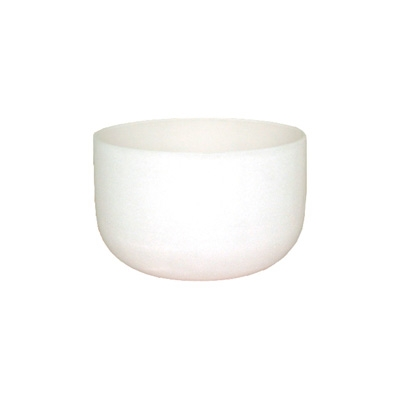 Frosted Crystal Singing Bowl - Solfeggio - 12 Inch