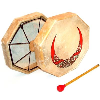 Octagonal Celtic Drum - Plain