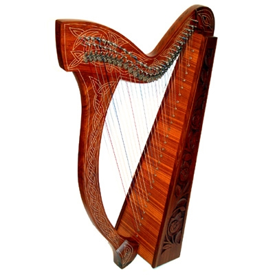 29 String Rosewood Celtic Harp