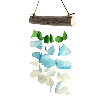 Recycled Glass Windchimes