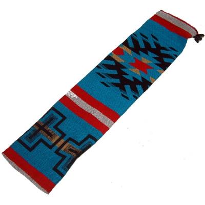 Native Design Woven Flute Bag