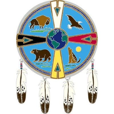 Window Transparency - Native Visions - Medicine Wheel