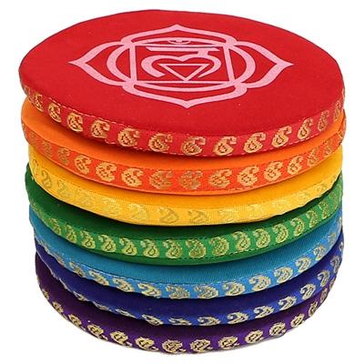 Singing Bowl Cushion Set 7 Chakras - 14.5 cm