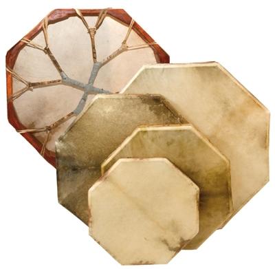 Lightweight Octagonal Shamanic Drum - 50 cm