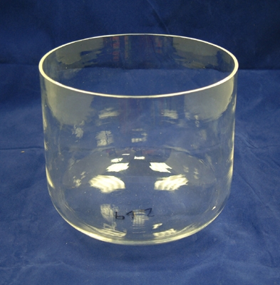 Clear Crystal Singing Bowl - 15 cm - Heart/Thymus