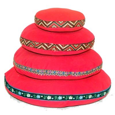 Red Velvet Singing Bowl Cushion