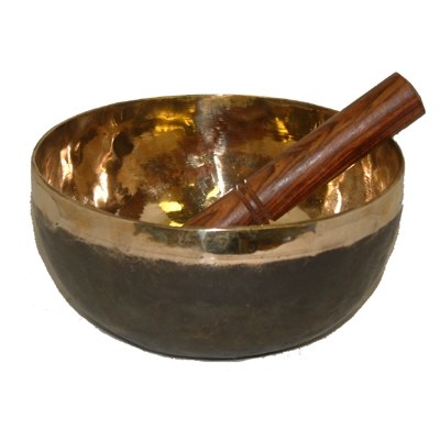Black/Gold Himalayan Singing Bowl - 1200g