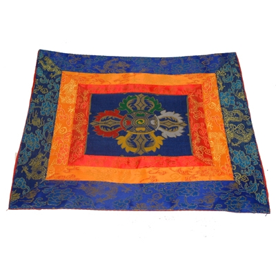 Silk Brocade Temple Cloth - Double Dorje 33 cm