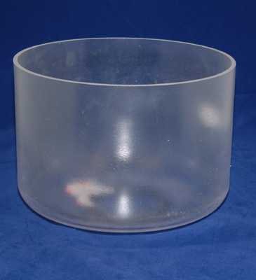 Opaque Crystal Singing Bowl - 20 cm - Heart