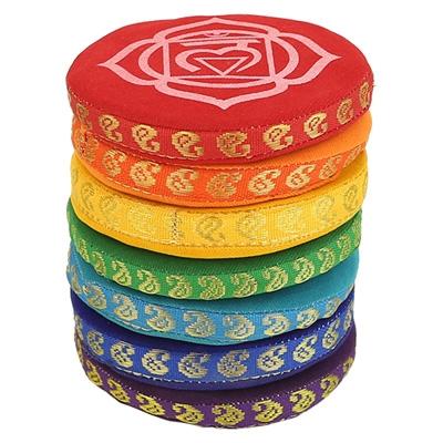 Singing Bowl Cushion Set 7 Chakras - 9.5 cm
