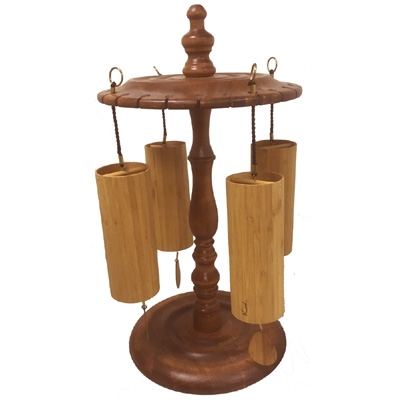 Koshi Wind Chimes - Set of 4 & Wooden Stand