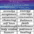 Water Blessing Labels - Healing Medicine
