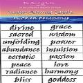 Water Blessing Labels -  Sacred Feminine
