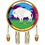 Window Transparency - Native Visions - White Buffalo