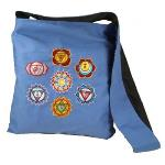 Chakra Embroidery Shoulder Bag - Blue