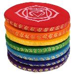 Singing Bowl Cushion Set 7 Chakras - 14.5 cm