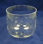 Clear Crystal Singing Bowl - 25 cm - Heart