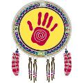 Window Transparency - Native Visions - Shamans Hand