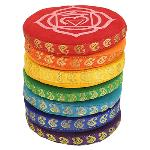 Singing Bowl Cushion Set 7 Chakras - 9.5 cm