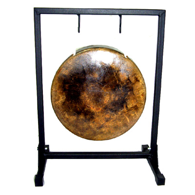 small metal gong stand 3 sizes. Black Bedroom Furniture Sets. Home Design Ideas